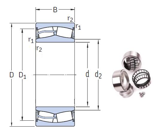 23168-2CS5/VT143 Spherical Roller Bearings 340*580*190mm
