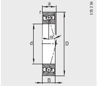 HSS71922-E-T-P4S bearing 110X150X20mm