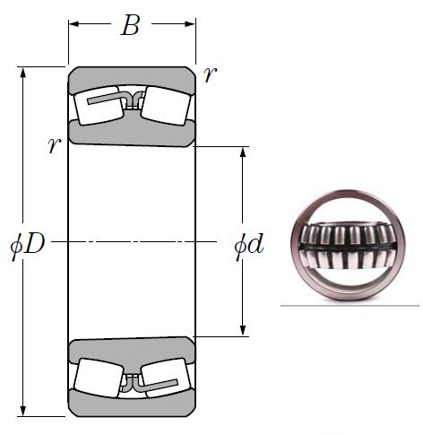 24068BK30 Spherical Roller Bearings 340*520*180mm