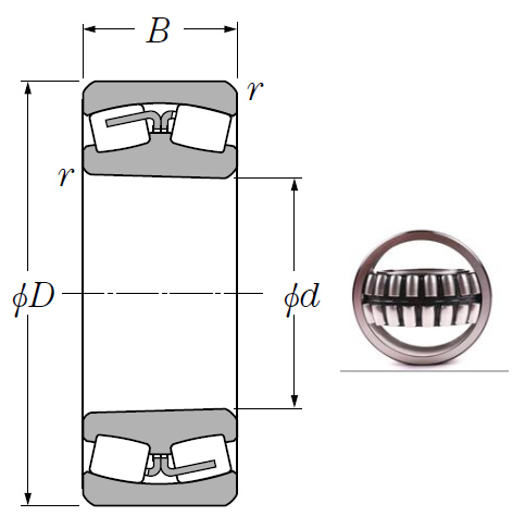 241/500BK30 Spherical Roller Bearings 500*830*325mm