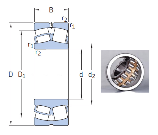 22205/20 E Spherical roller bearings 20x52x18mm