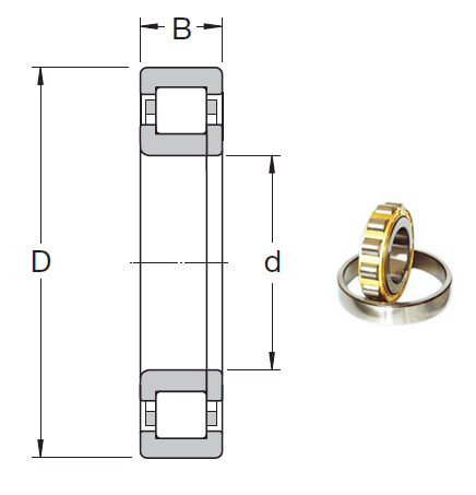 NUP 215 ECP Cylindrical Roller Bearings 75*130*25mm