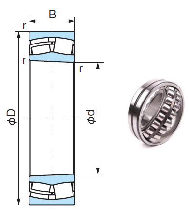 23130AXK Spherical Roller Bearings 150*250*80mm