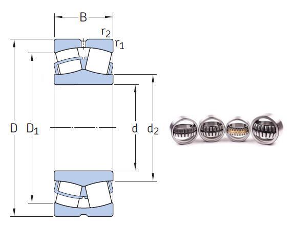 22316 EK the most novel spherical roller bearing 80*170*58mm