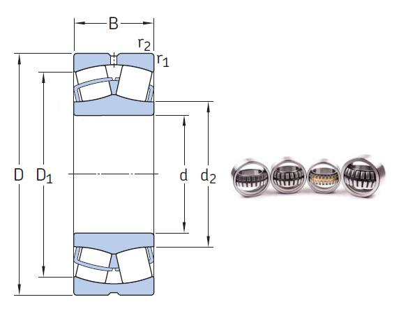 230/1060 CAKF/W33 the most novel spherical roller bearing 1060*1500*325mm