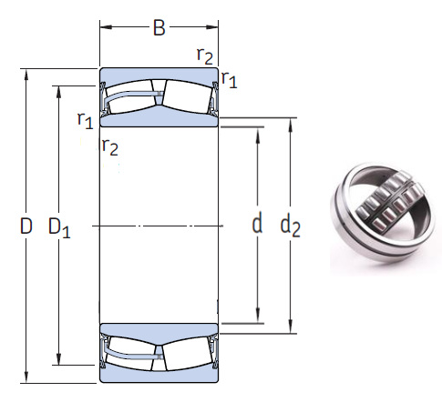 23226-2CS5/VT143 Spherical Roller Bearings 130*230*80mm