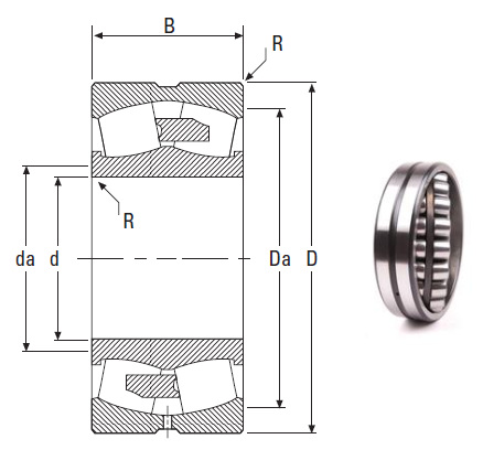 the most novel spherical roller bearing 23256YMB 280*500*176mm