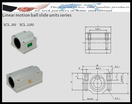 SCS12UU Linear Motion Ball Slide Bearing 12x42x36mm