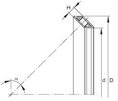AXS0816 Axial angular contact roller bearings 8x16x3mm