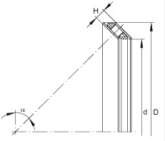 AXS4558 Axial angular contact roller bearings 45x58x6mm