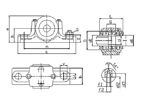 SN326 shaft block bearing 130x280x170mm