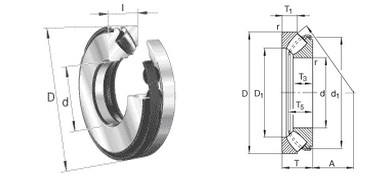 JMZC Thrust spherical roller bearings 29426E1