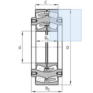 BSTB 461903C Spherical Roller Bearings 380x980x308mm