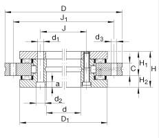YRT180 Turntable bearing 180x280x43mm