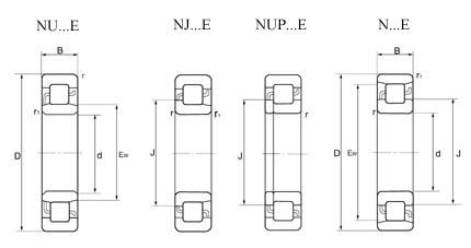 N306-E Cylindrical Roller Bearing
