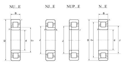NU304-E Cylindrical Roller Bearing