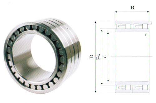 508368 rolling mill bearings for roll neck 240x330x220mm