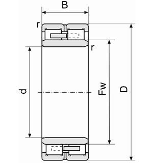 NNU3044X1 bearing