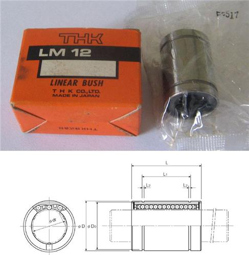 LME12UU-OP Linear Bushing 12x22x32mm