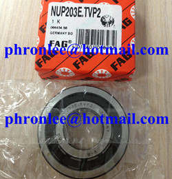 NUP203E.TVP2 Cylindrical Roller Bearing 17x40x12mm