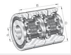 ZKLF30100-2RS Axial angular contact ball bearings 30x100X38mm