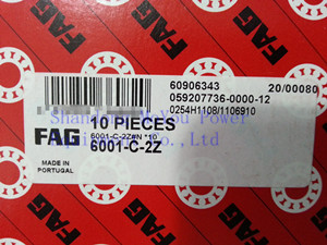 FAG 6001-C-2Z Bearings