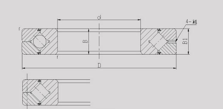 cross roller slewing bearing RA7008
