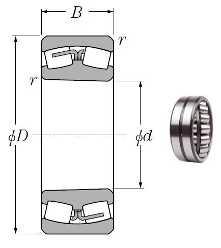 24064BK30 Spherical Roller Bearings 320*480*160mm