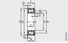 K555-S-552-A bearing 57.15X123.825X36.678mm