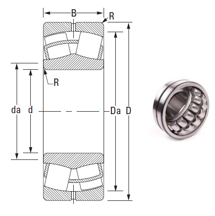 the most novel spherical roller bearing 23222CJ 110*200*69.8mm