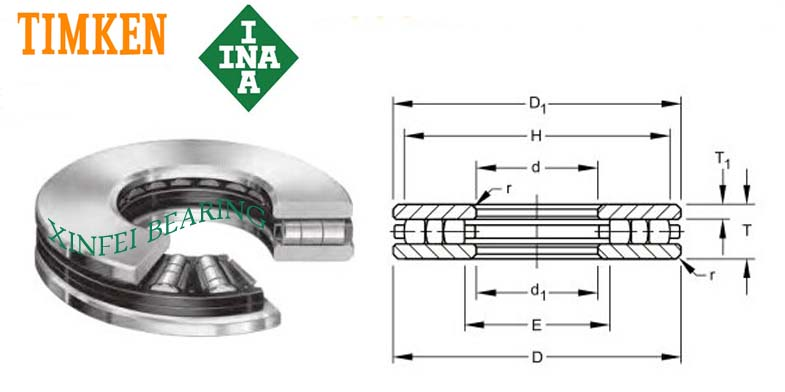 TP-168 Thrust Cylindrical Roller Bearings 457.2x762x139.7mm