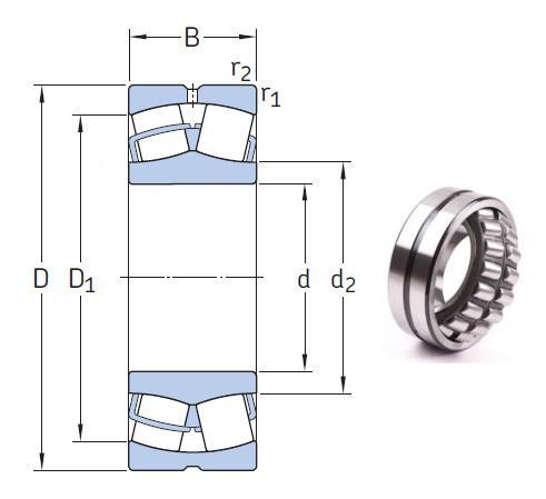 Original high quality spherical roller bearing 22205 EK bearing 25x52x18mm