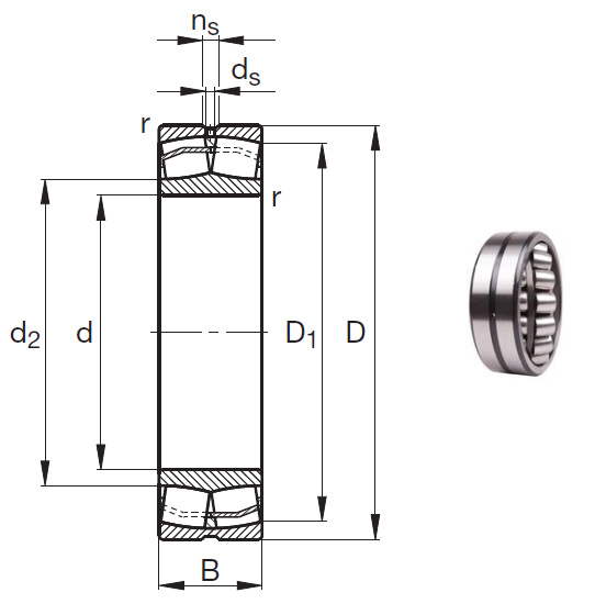 24188-E1 Spherical Roller Bearings 440*720*280mm