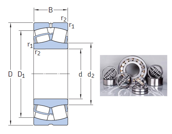 Original high quality spherical roller bearing 22205 E bearing 25x52x18mm