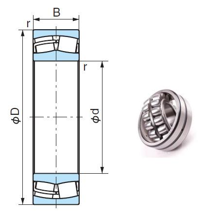 23124EX1 Spherical Roller Bearings 120*200*62mm