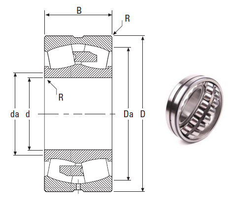 the most novel spherical roller bearing 22356YMB 280*580*175mm