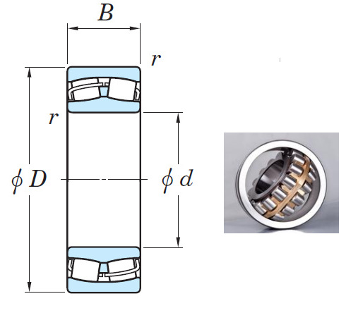 21311RH Spherical Roller Bearings 55*120*29mm