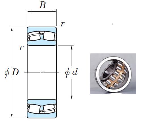 22226RHR Spherical Roller Bearings 130*230*64mm