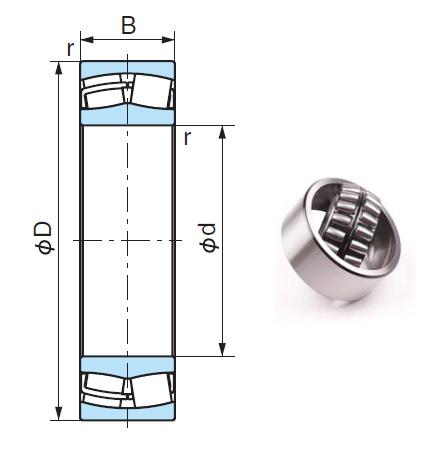22318AEX Spherical Roller Bearings 90*190*64mm