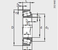 31306-A bearing 30X72X19mm