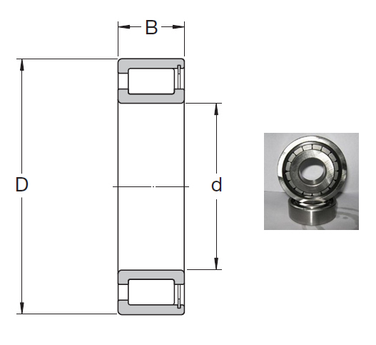 NCF 18/850 V Cylindrical Roller Bearings 850*1030*82mm