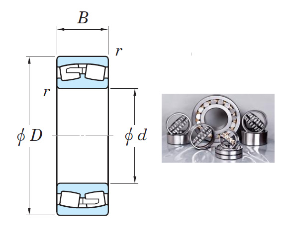 23080R Spherical Roller Bearings 400*600*148mm