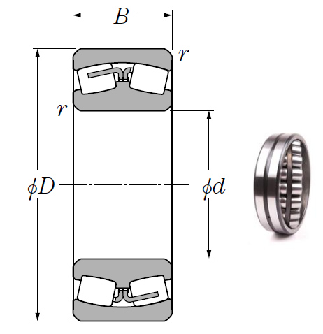 23152B Spherical Roller Bearings 260*440*144mm