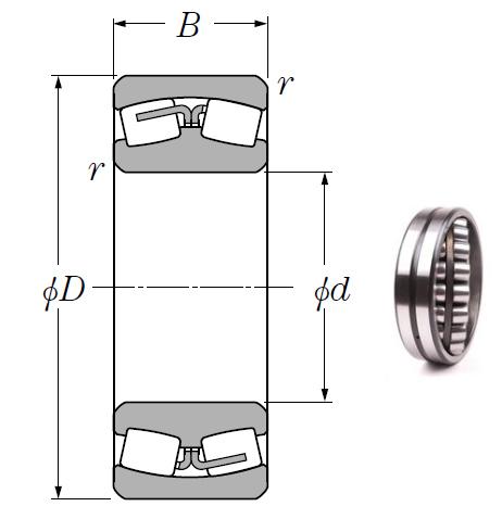 24068B Spherical Roller Bearings 340*520*180mm