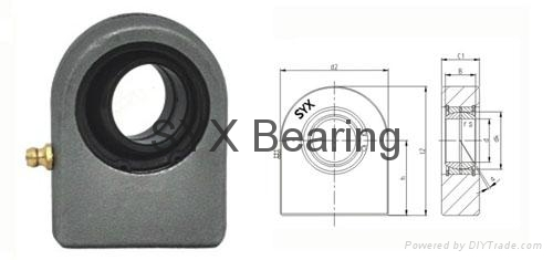 GF35LO hydraulic rod end bearing