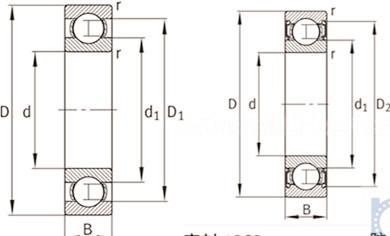 62306.2RSR bearing 30x72x27mm