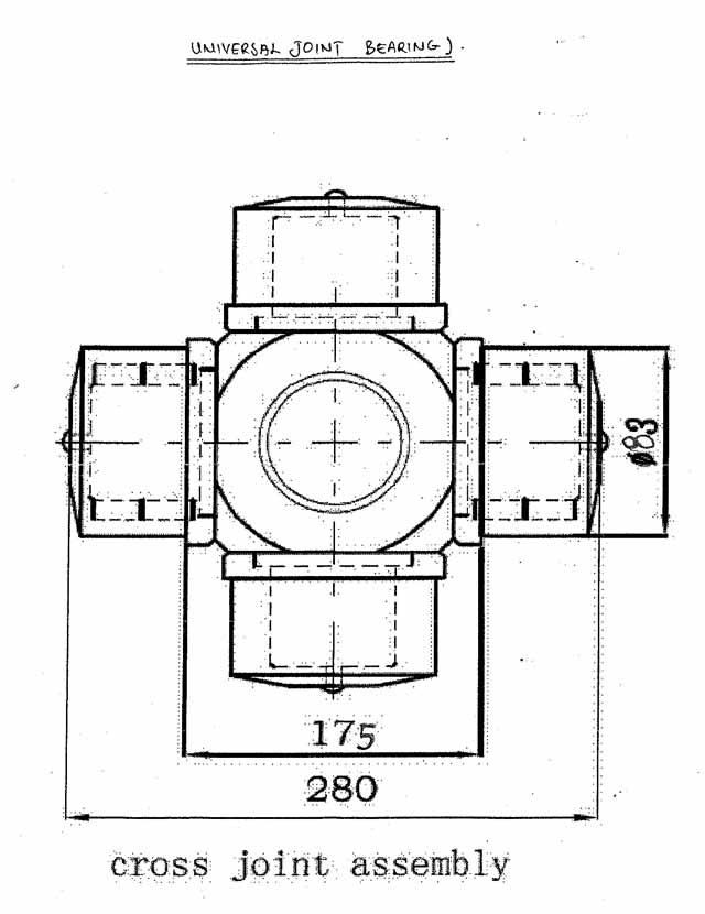 Cross Bearing Sizes : Quote for cardan shaft bearing cross joint